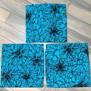 Decorative Throw Pillow/Sham Covers Black on Teal